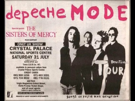 Sisters Of Mercy Tour Poster London