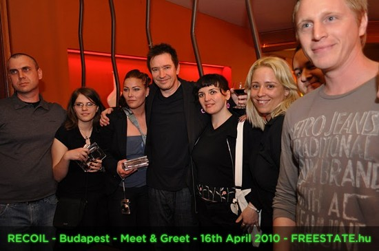 RECOIL - Budapest - Meet And Greet - 16th April 2010 - FREESTATE.hu