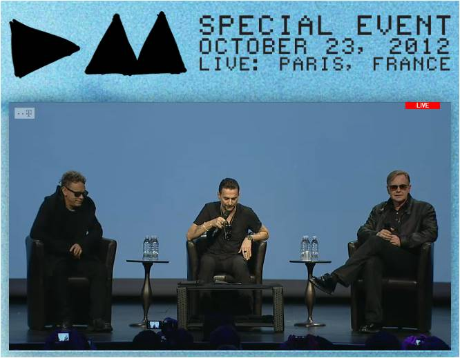 depeCHe MODE Press Conference 2012